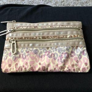 Lesportsac 3-zip animal print- Brand new (no tags)